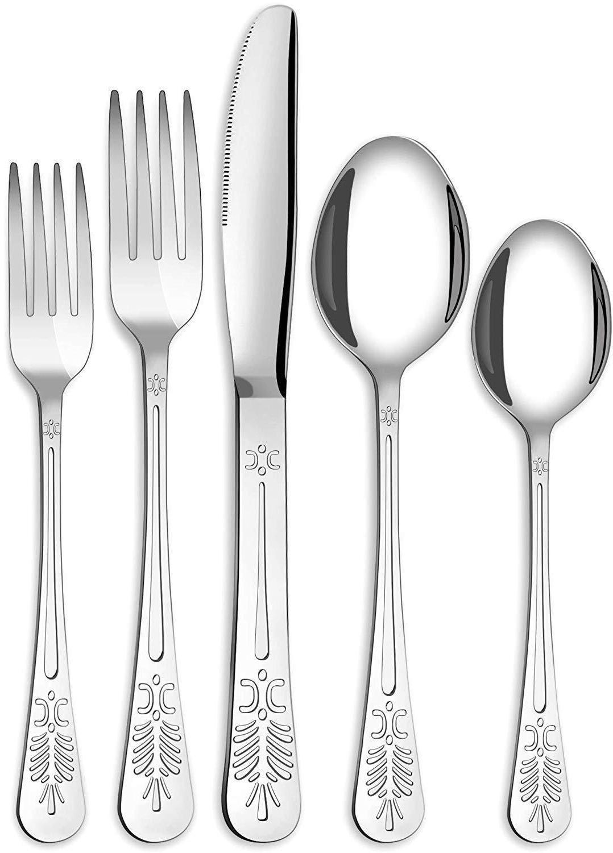 20 piece flatware silverware cutlery set stainless