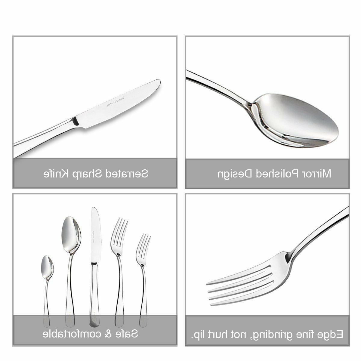 20 Piece Flatware Silverware Cutlery Stainless Steel Service for