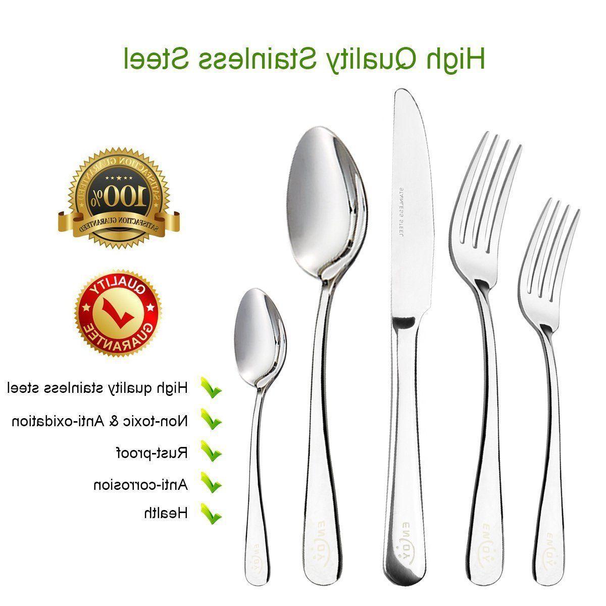 20PCS Steel Dinner Spoon Silverware