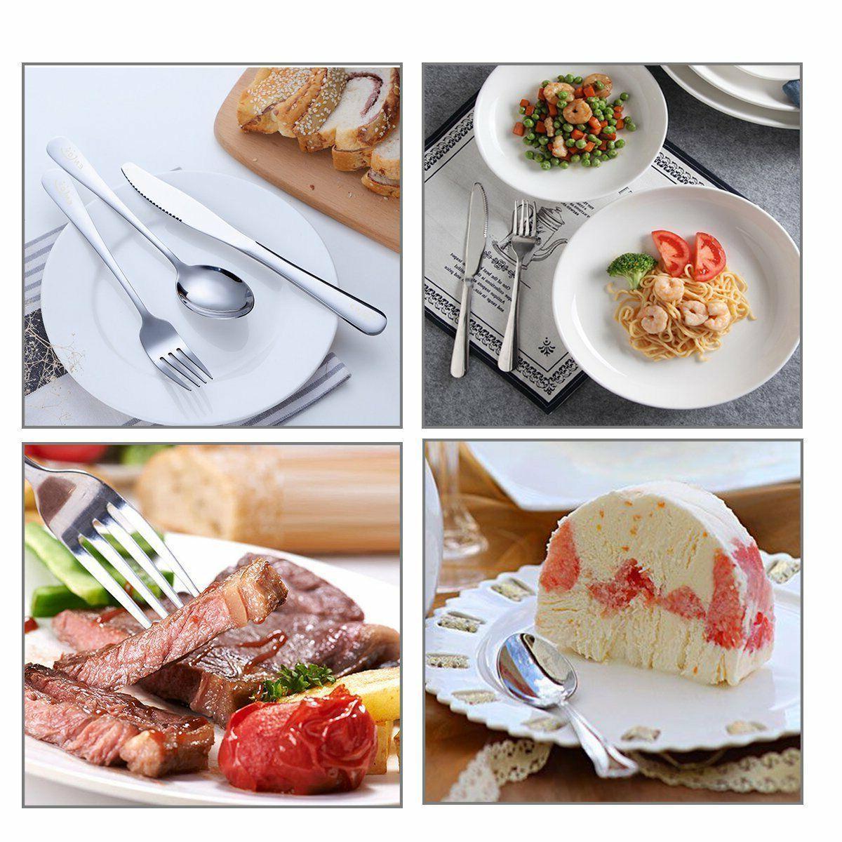 20 Piece Flatware Cutlery Set Service