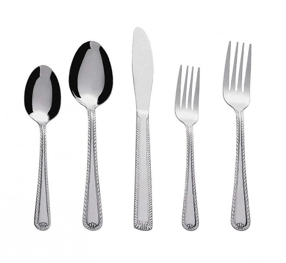 20 piece stainless steel flatware silverware cutlery