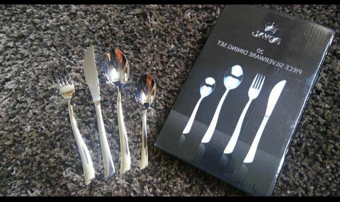 20 Pieces Flatware Stainless Fork Spoon