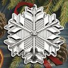 2017 Gorham Snowflake 48th Edition Sterling Ornament - NEW