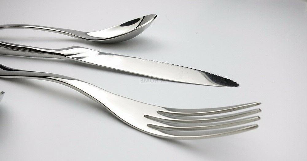 20pcs Flatware Set Set 18/10 Silverware Knife Spoon