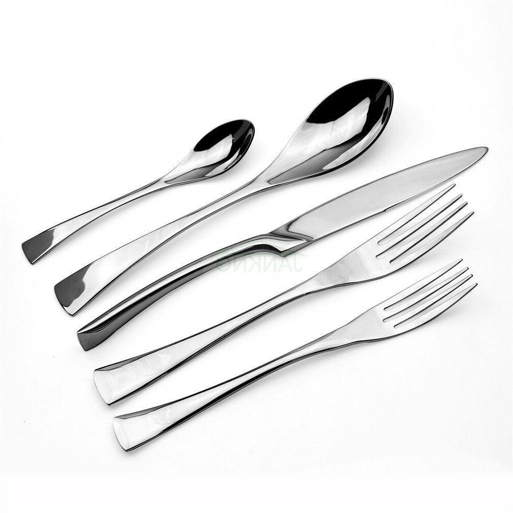 20pcs Set 18/10 Silverware Spoon Fork