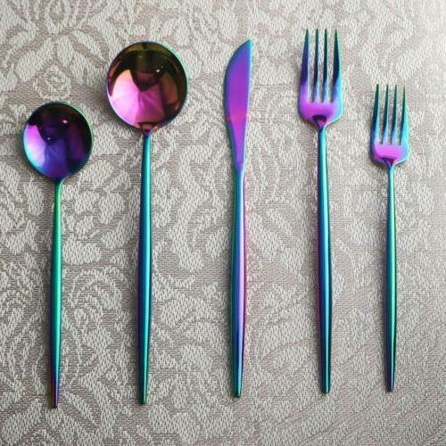 20pcs Flatware Cutlery Fork Spoon