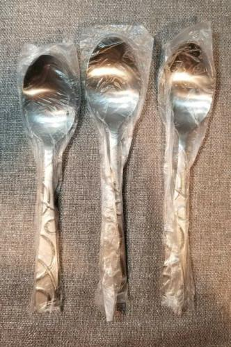 3 dinner soup large spoons silversmiths conquest