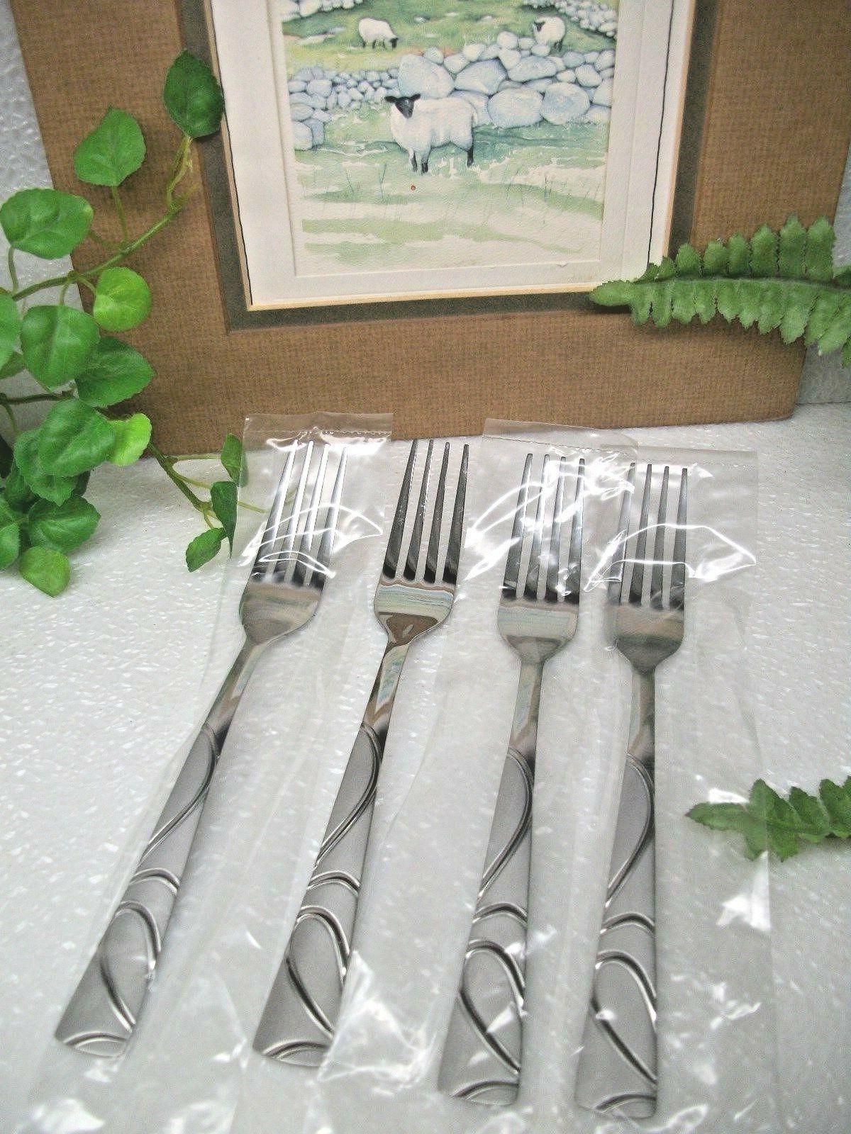 4 sasha sand stainless steel dinner forks