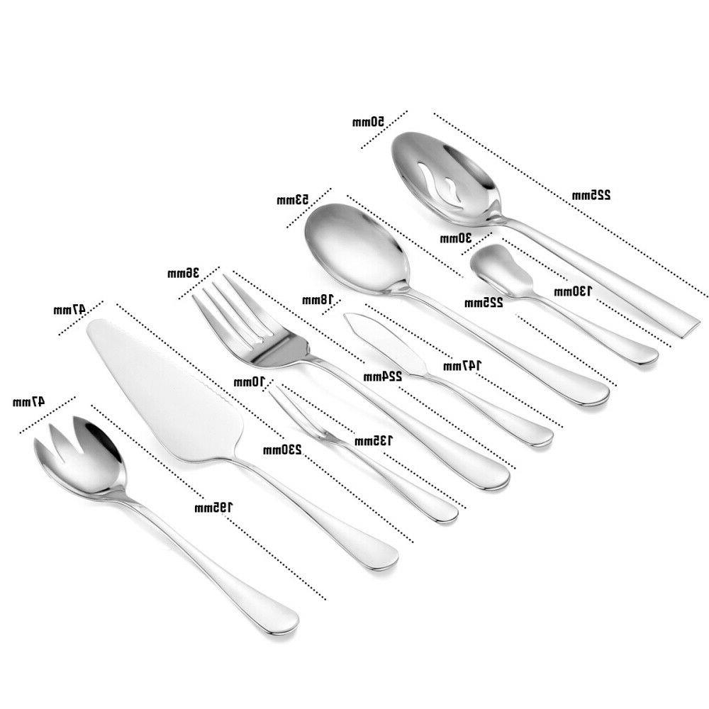 48 Pieces Flatware Service Utensils Set Mirror Polished US