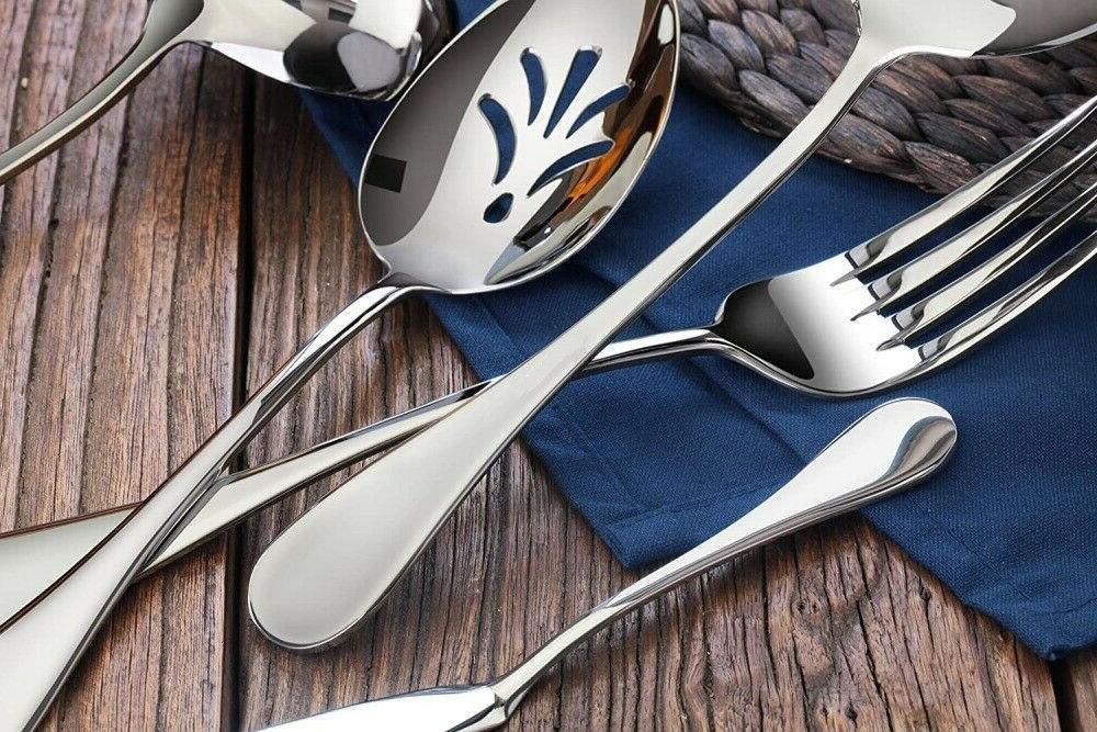 48 Silverware Flatware Service for Utensils US