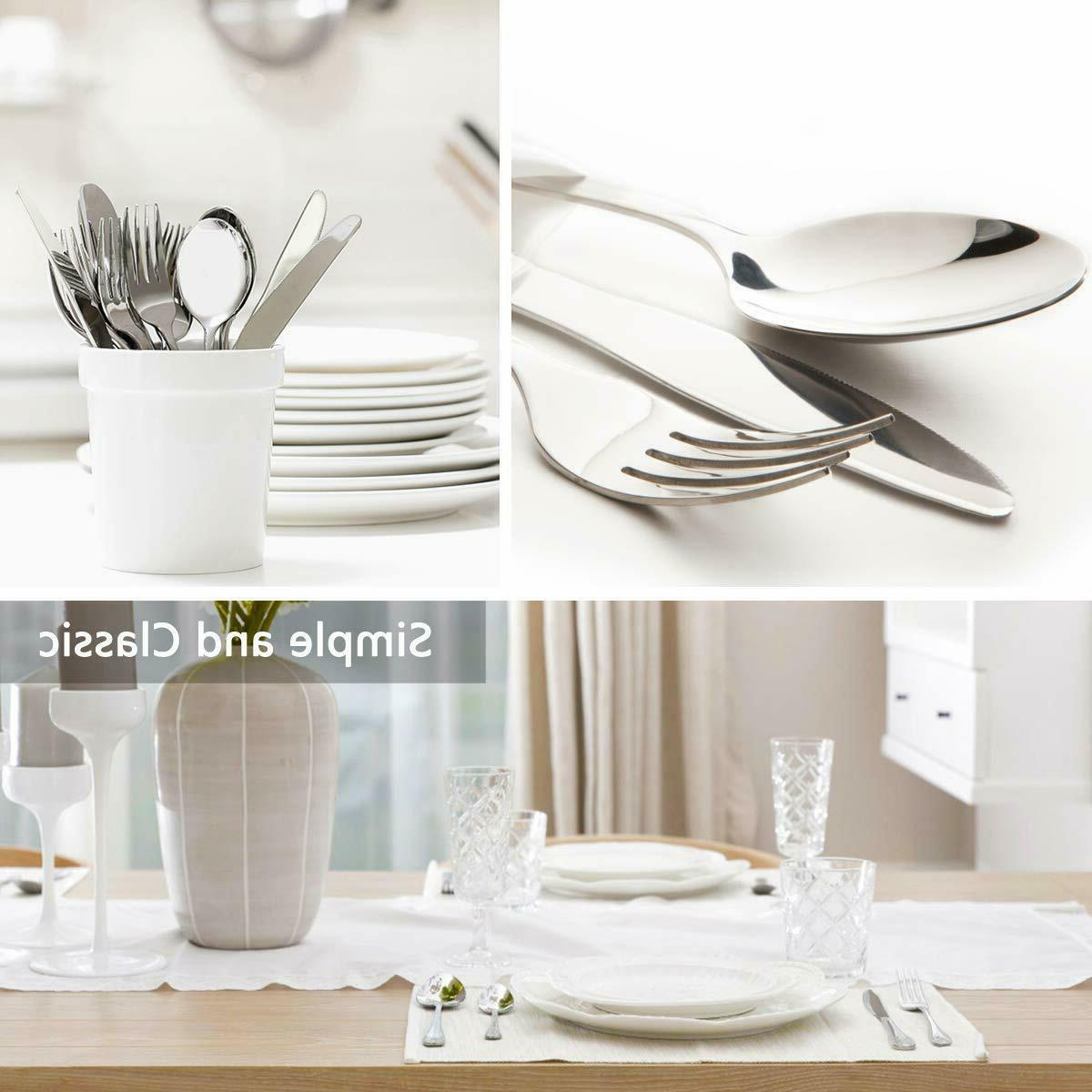 50 Stainless Flatware Set 8 Cutlery