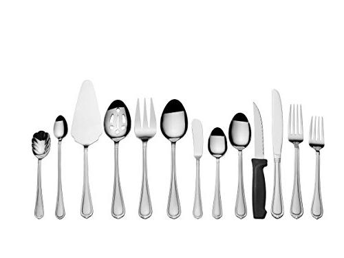 International Silver 5201096 102-Piece Steel Set Utensil Set,