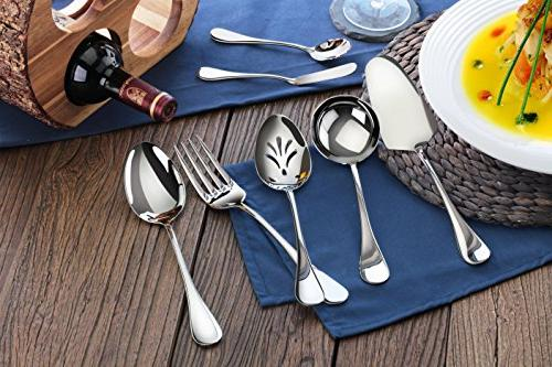 Artaste 56433 Stainless Steel 7-Piece Hostess Set, Silver