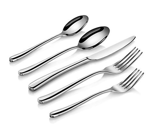 Artaste Forged 18/10 Stainless Flatware 20 Set, Service for 4, Silver