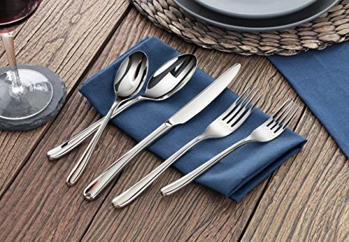 Artaste 56525 Rain Forged 18/10 Flatware Piece Service 4,
