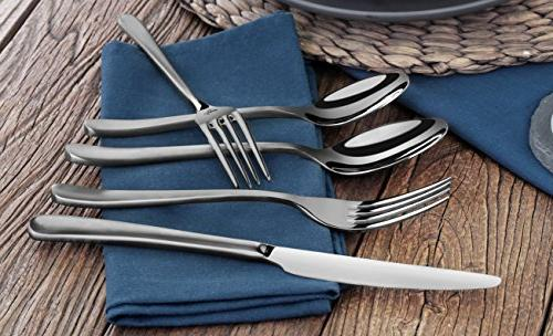 Artaste 57003 Rain II Forged Stainless Flatware Finished, Service for