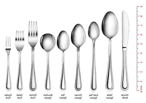 New Star Bead Pattern, Stainless 36-Piece Flatware