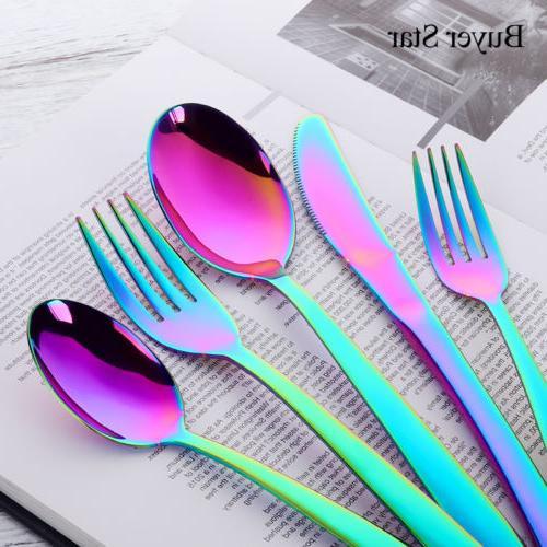 5PCS Steel Set Cutlery Upscale Fork Dessert