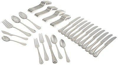 65 piece french perle flatware set