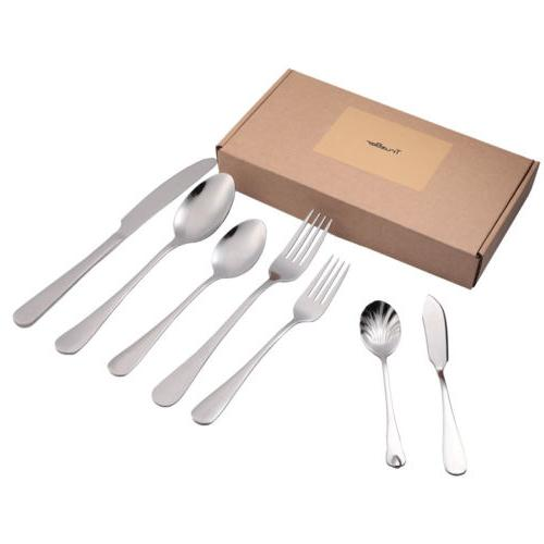 66 Piece Stainless Silverware Casual Set, Service for