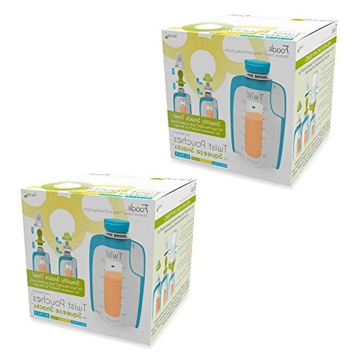 80 count kiinde foodii pureed food squeeze pouches