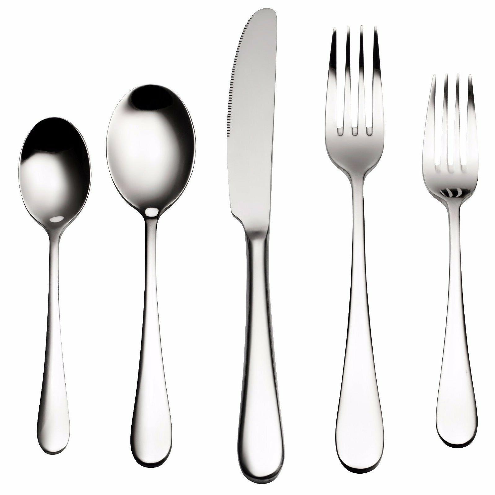 Bruntmor, ALBA Silverware Royal 45 Piece Flatware Cutlery Se