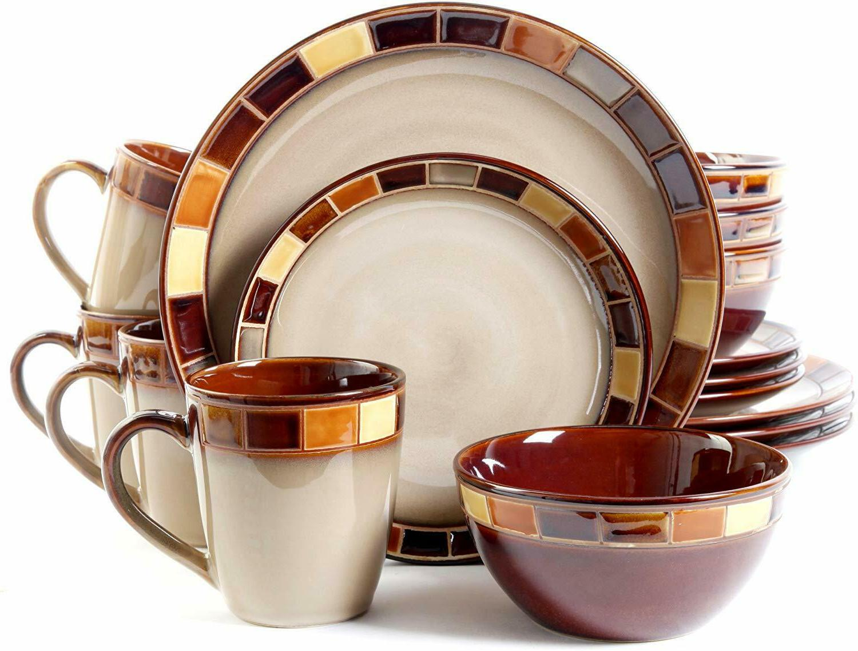 Gibson  Casa Estebana 16-piece Dinnerware Set Service for 4,