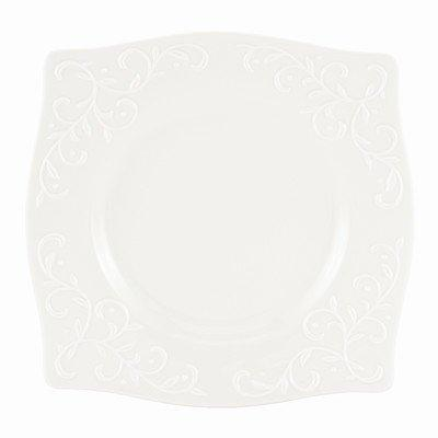 Lenox - Opal Innocence Carved - Lunch Plate Square