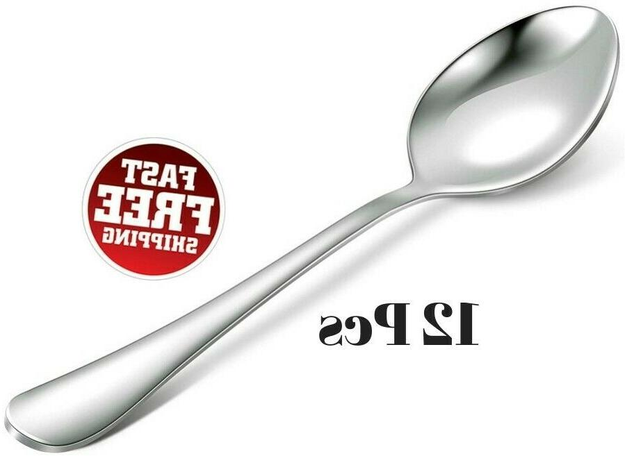 Royal 12-Piece Table Spoons Set - 18/10 Stainless Steel Dinn