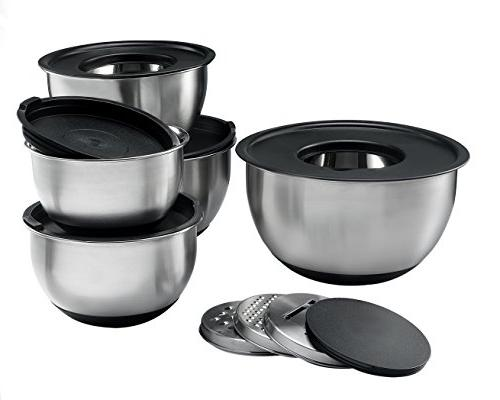 Sagler Stainless Steel Mixing Bowls 5, with Lids 3 kind of