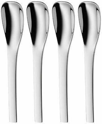 WMF Vela Stainless Steel Espresso Spoons, Set of 4