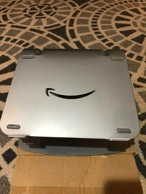 amazon basics metal laptop stand silver