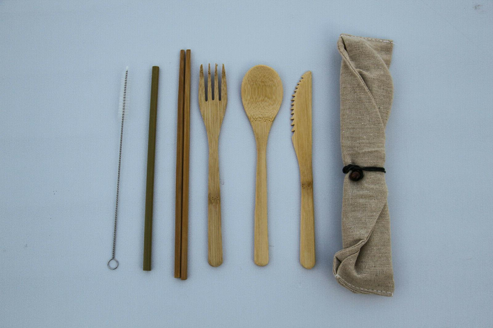 Bamboo Bamboo Reusable Set, Green Travel