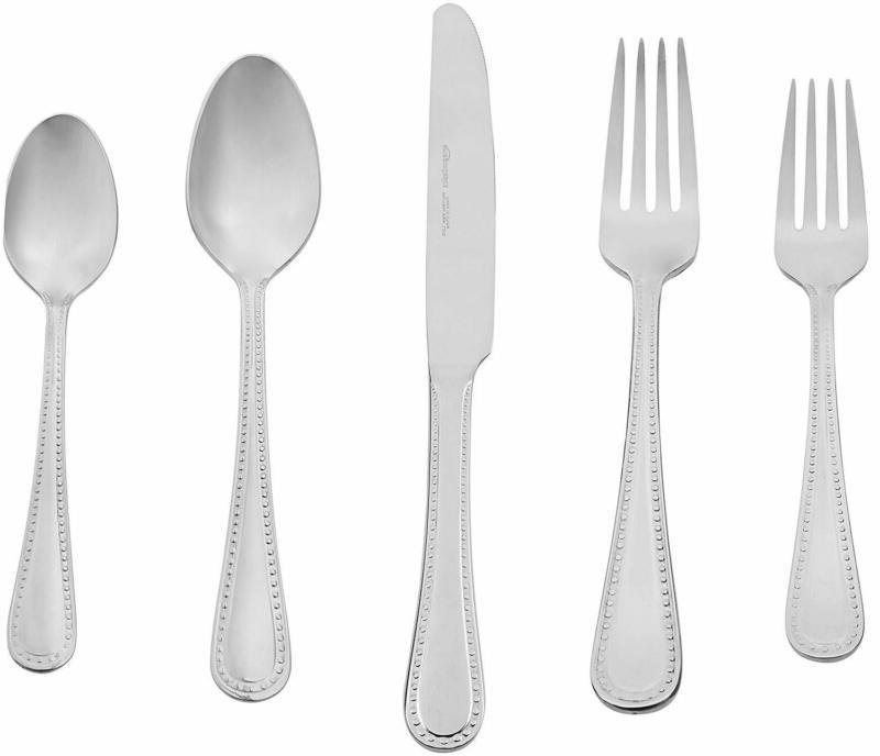 basics 20 piece stainless steel flatware set
