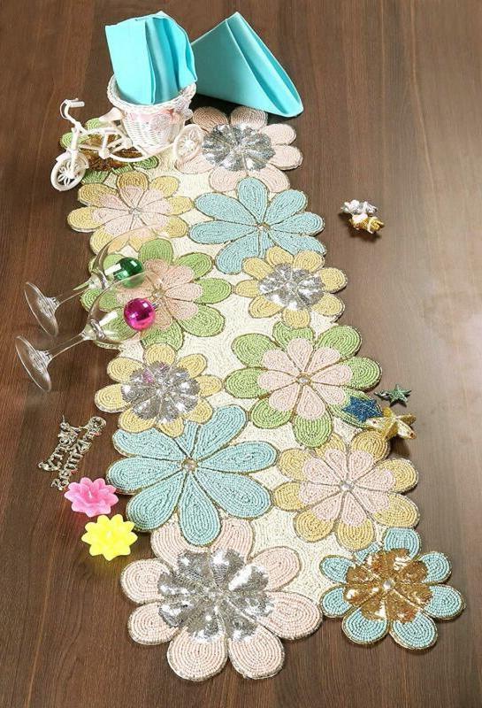 Beaded Inch, Glitz Table Runner, Decorative