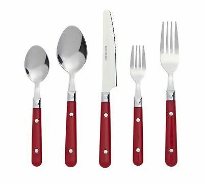 brasserie 20 piece stainless steel flatware silverware