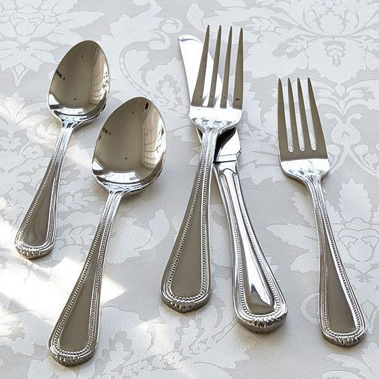 countess 45 piece casual stainless flatware set