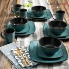 Dinnerware Set Rustic Square Dinning Dishes 32 Pc Service Ho