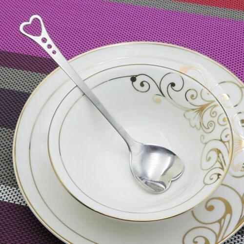 Tableware Mixer Flatware Heart Shaped Kitchen Dining Home Ga