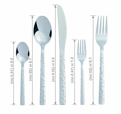 Bon Emerald Steel Silverware Set, Knife/Fork/Spoon, Polished, Safe, for