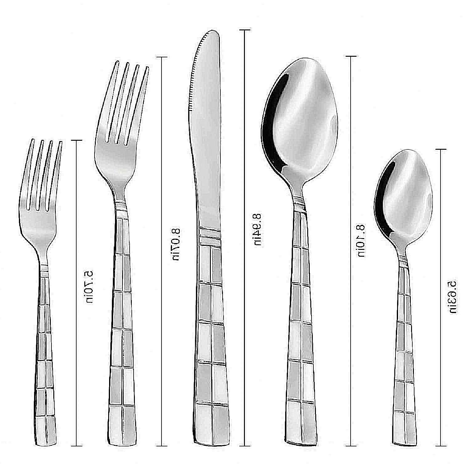 Steel Silverware 20 Spoon Fork Knife