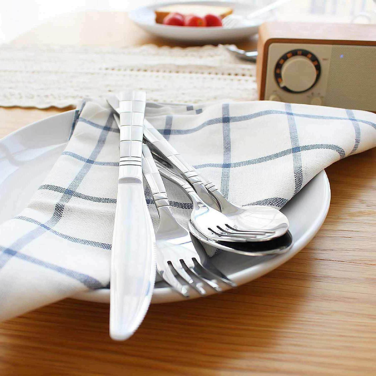 Flatware Set Stainless Steel Silverware Spoon Fork Knife