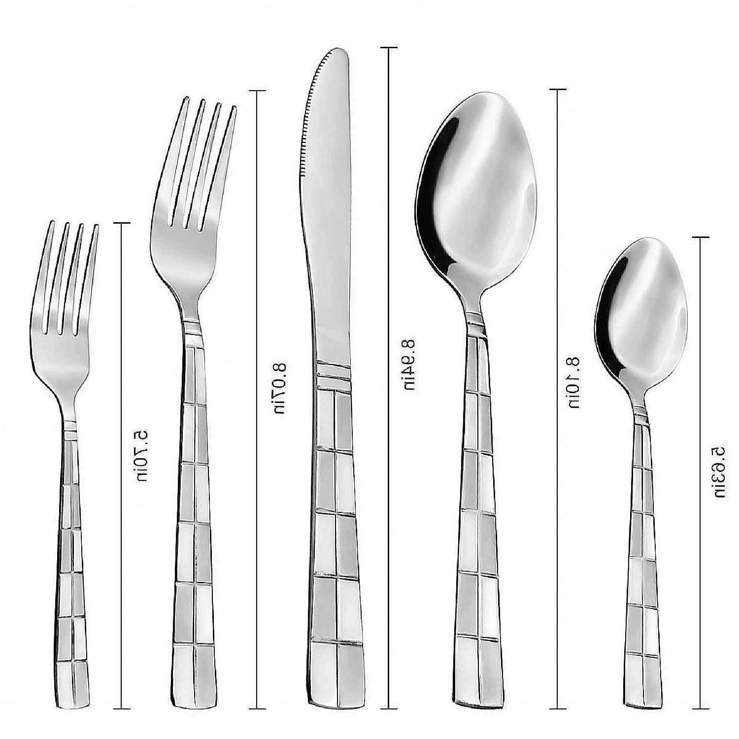 Flatware Set Stainless Steel Silverware 20 Spoon Fork
