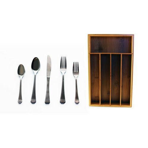 flatware place setting set 60 piece bamboo