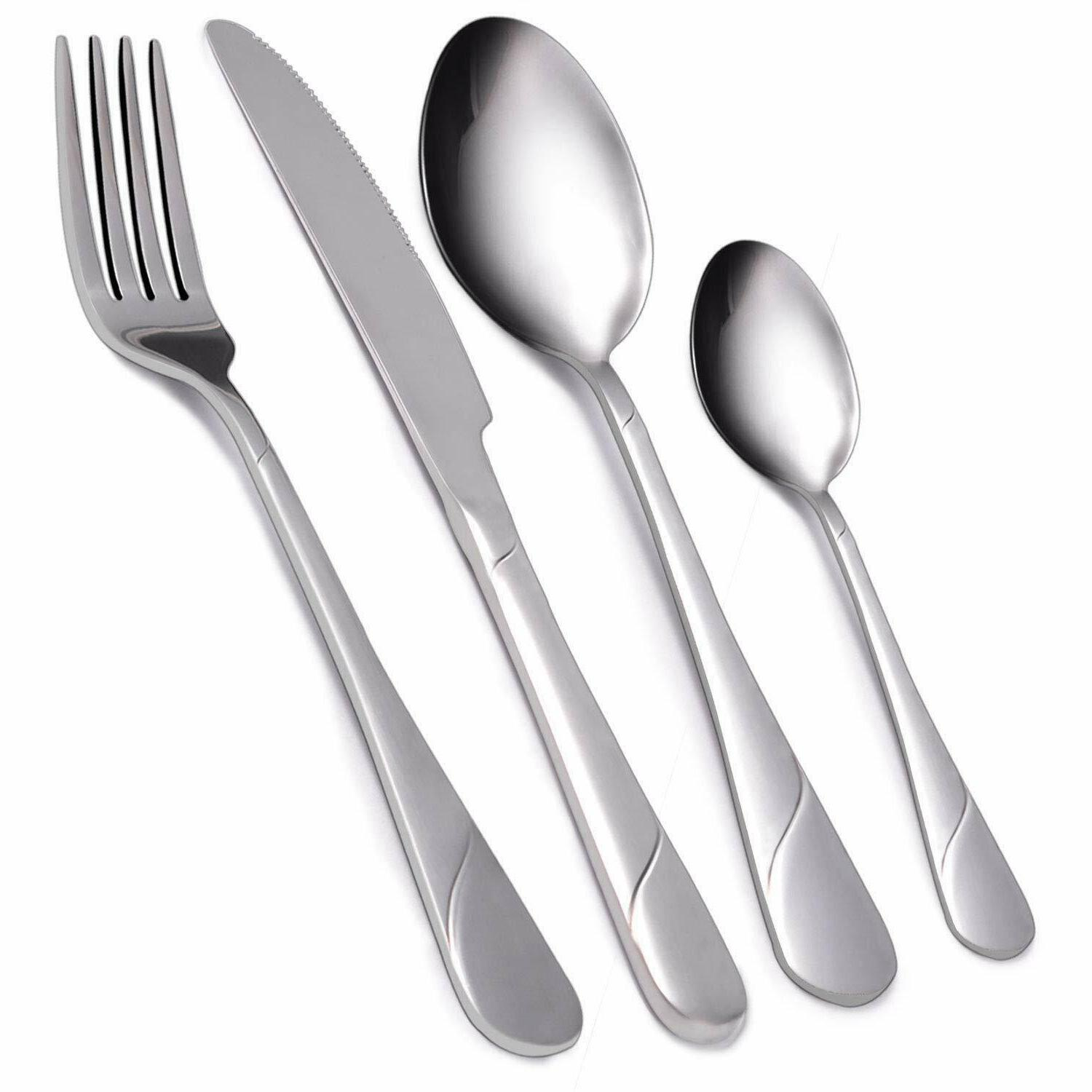 Flatware Set Service for Stainless Cutlery Set