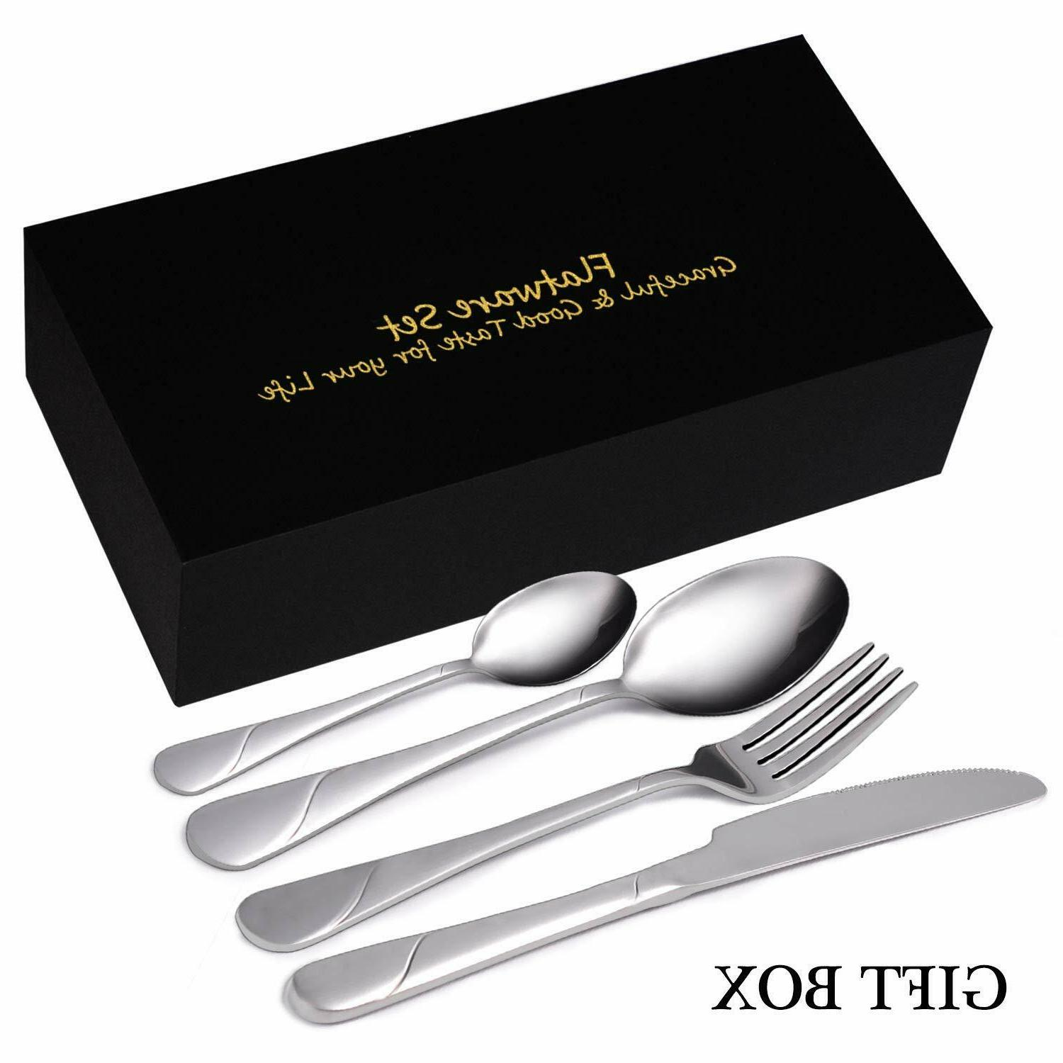 flatware set 24 piece silverware set service