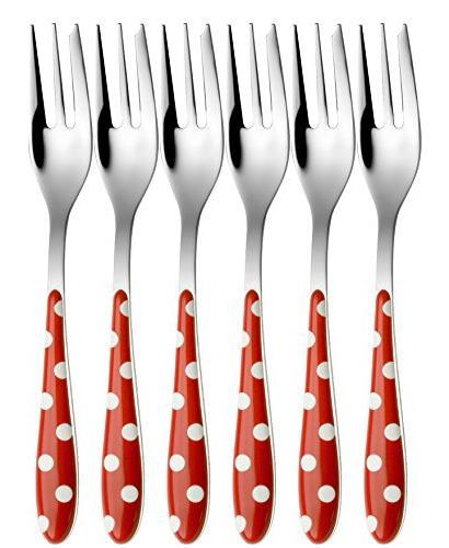 flatware set dessert fork rosso