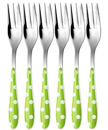 flatware set dessert fork verde
