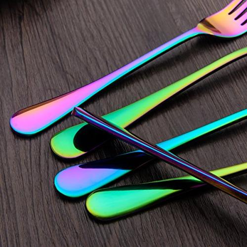 Berglander Flatware Piece, Titanium Colorful Multicolor Flatware Color Cutlery For