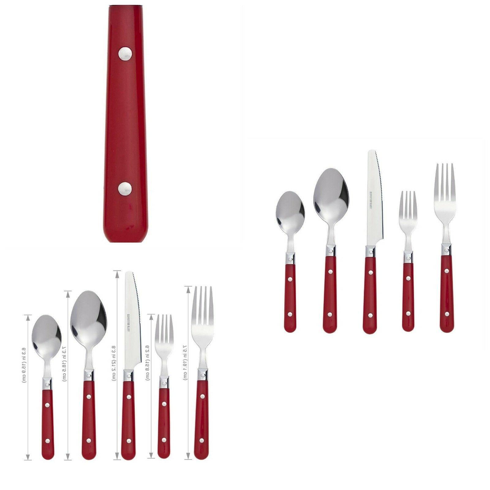 flatware set silverware cutlery stainless steel kitchenware